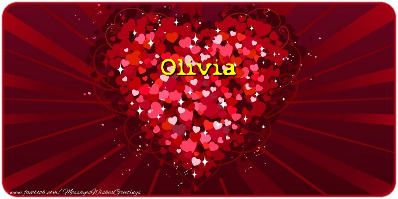 Greetings Cards for Love - Olivia