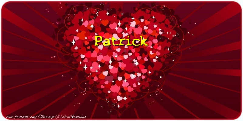 Greetings Cards for Love - Patrick