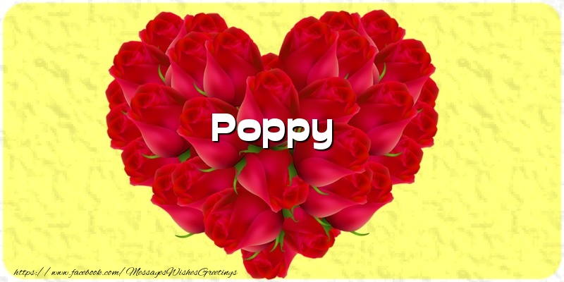 Greetings Cards for Love - Poppy