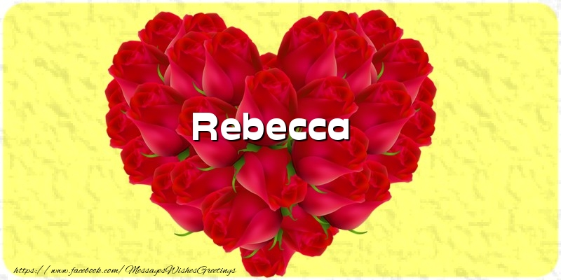 Greetings Cards for Love - Rebecca