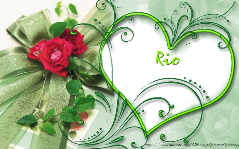 Greetings Cards for Love - Rio