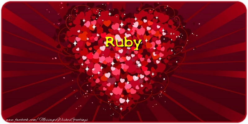 Greetings Cards for Love - Ruby