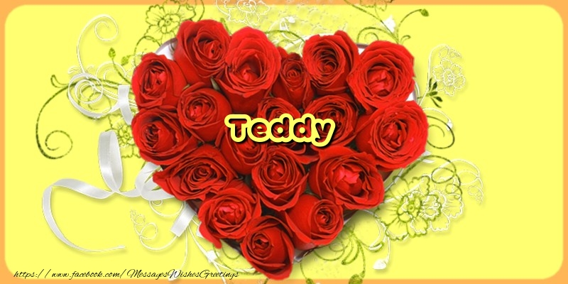 Greetings Cards for Love - Teddy