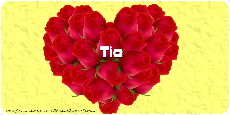 Greetings Cards for Love - Tia