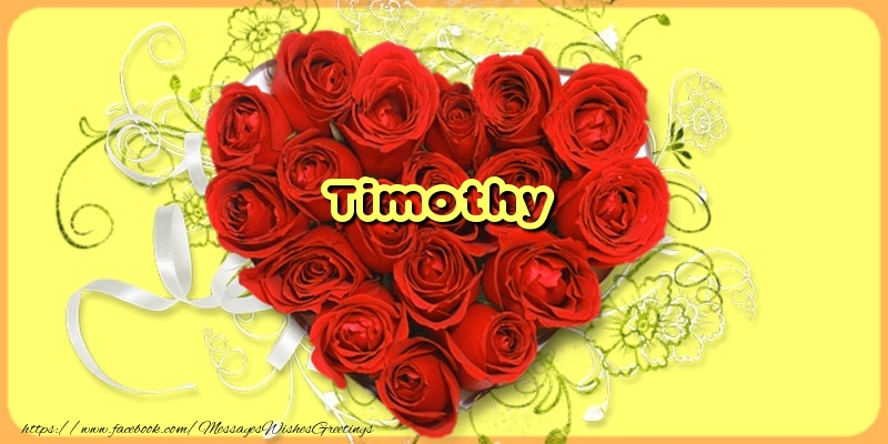 Greetings Cards for Love - Timothy