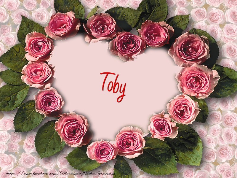 Greetings Cards for Love - Toby