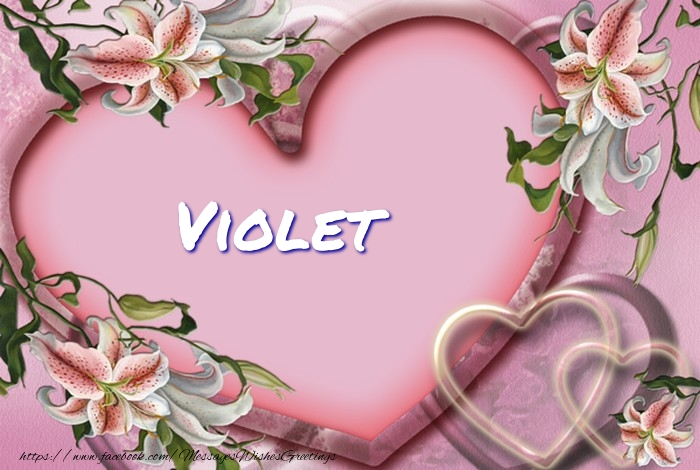 Greetings Cards for Love - Violet