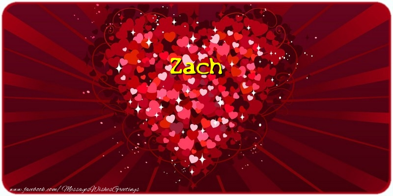 Greetings Cards for Love - Zach