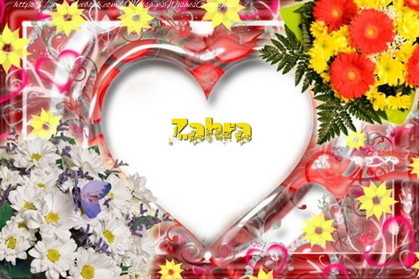 Greetings Cards for Love - Zahra