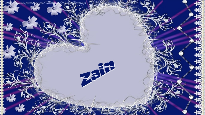 Greetings Cards for Love - Zain