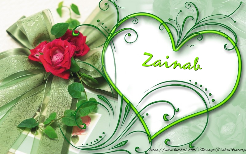 Greetings Cards for Love - Zainab