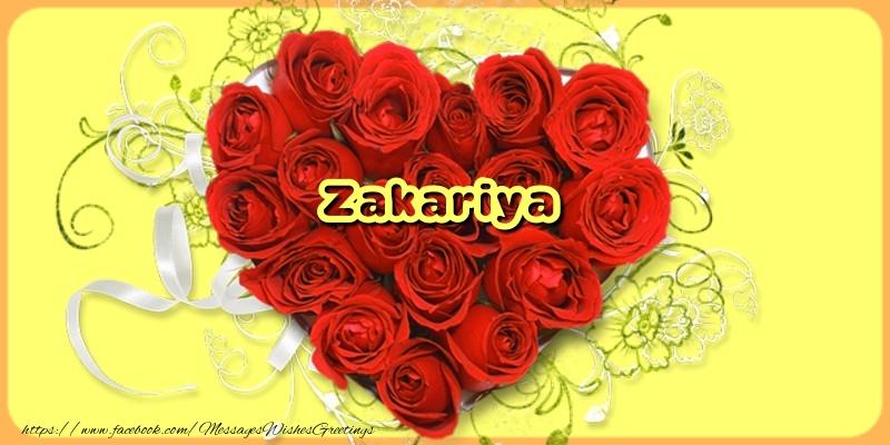 Greetings Cards for Love - Zakariya