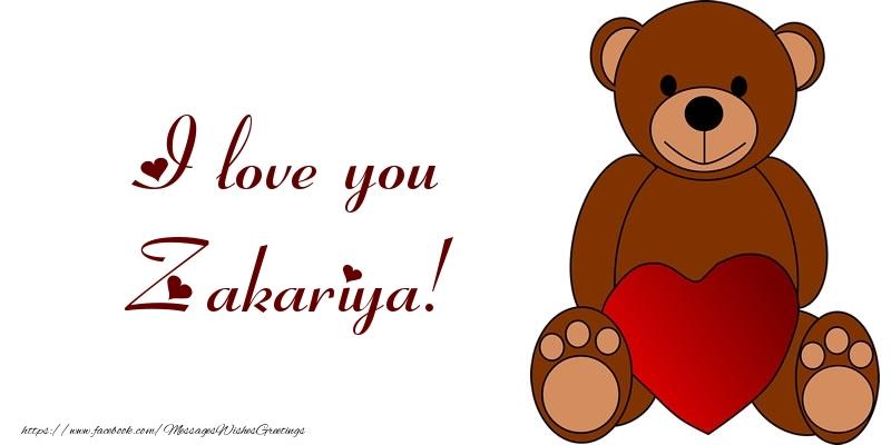 Greetings Cards for Love - I love you Zakariya!