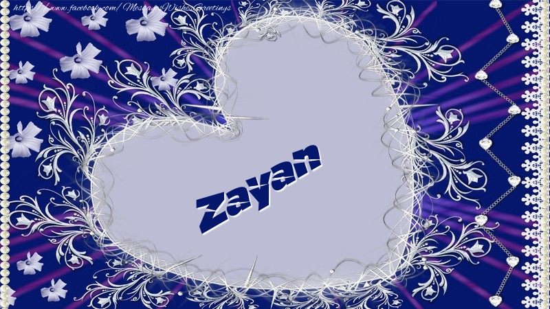 Greetings Cards for Love - Zayan