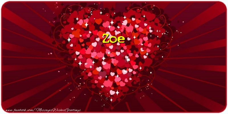 Greetings Cards for Love - Zoe