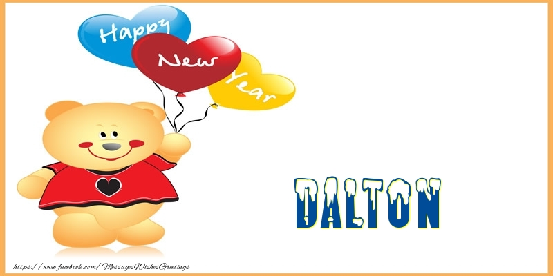 Greetings Cards for New Year - Happy New Year Dalton!