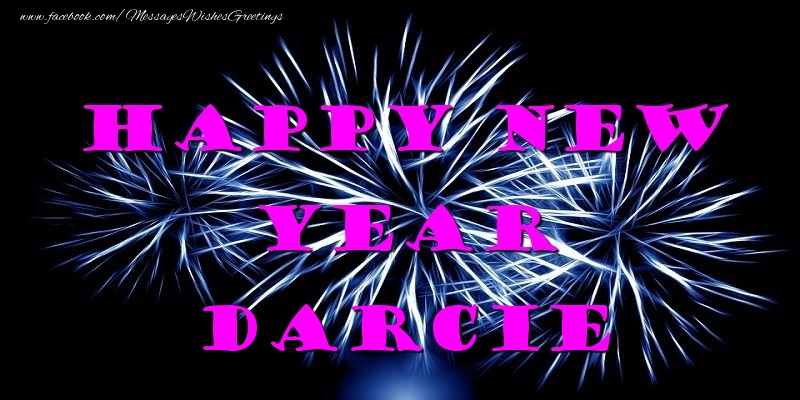 Greetings Cards for New Year - Happy New Year Darcie