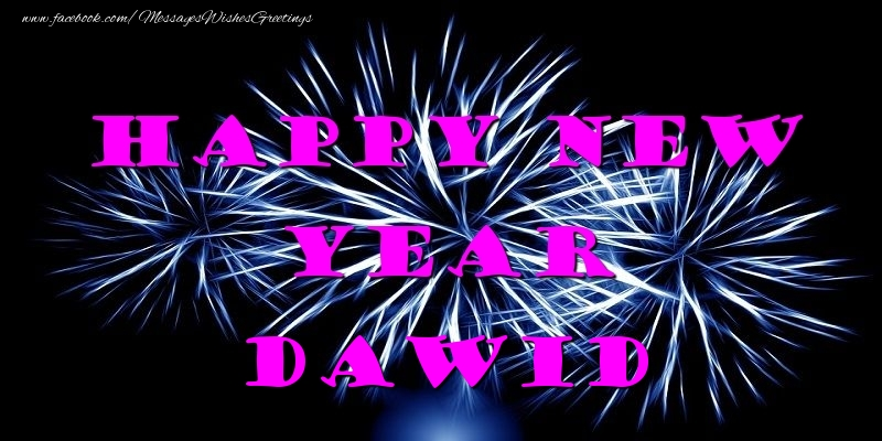 Greetings Cards for New Year - Happy New Year Dawid