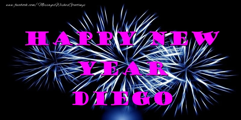 Greetings Cards for New Year - Happy New Year Diego