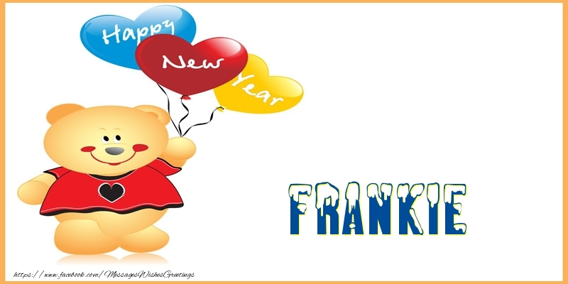 Greetings Cards for New Year - Happy New Year Frankie!