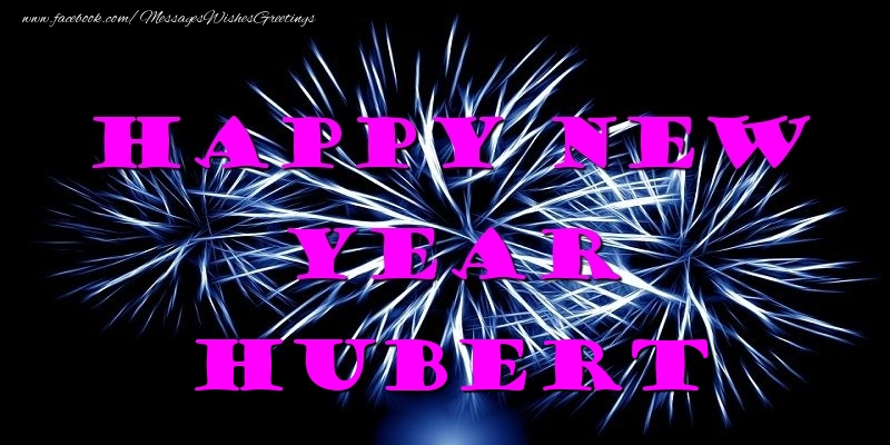 Greetings Cards for New Year - Happy New Year Hubert