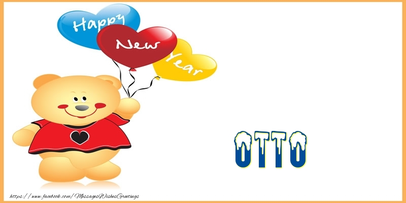 Greetings Cards for New Year - Happy New Year Otto!