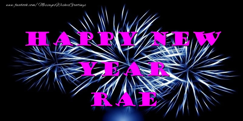 Greetings Cards for New Year - Happy New Year Rae