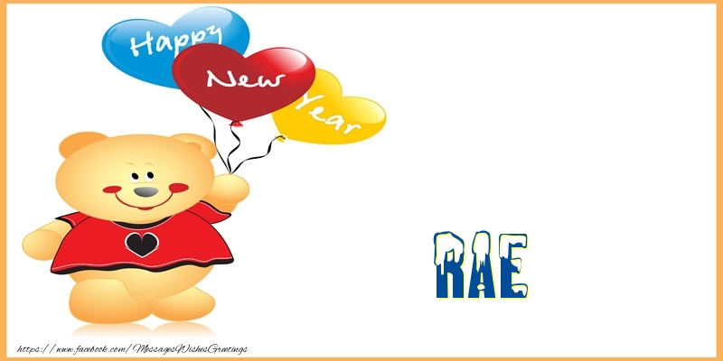 Greetings Cards for New Year - Happy New Year Rae!