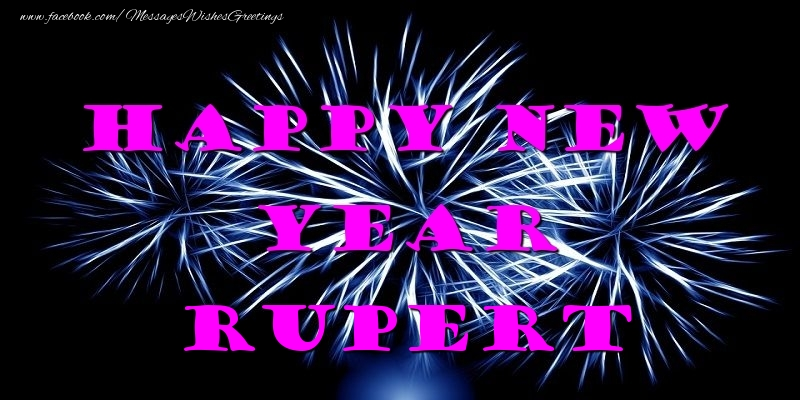 Greetings Cards for New Year - Happy New Year Rupert