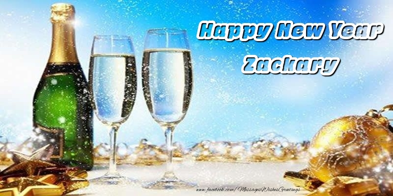 Greetings Cards for New Year - Happy New Year Zackary