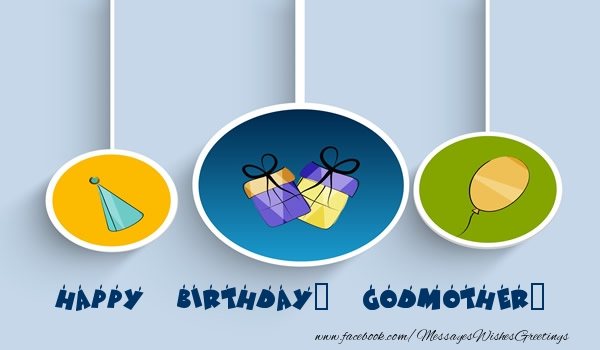Happy Birthday Godmother Card: Greetings Cards For Birthday For Godmother