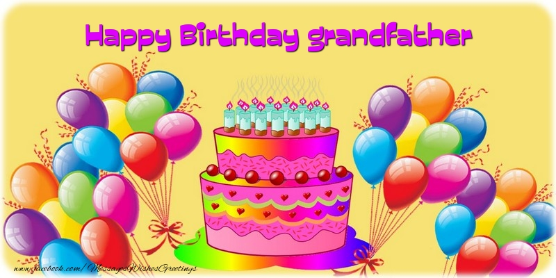 Greetings Cards for Birthday for Grandfather Cake Happy Birthday – Happy Birthday Grandpa Card
