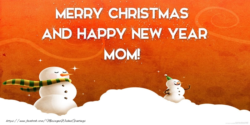 greetings cards for christmas for mother merry christmas and happy new year mom