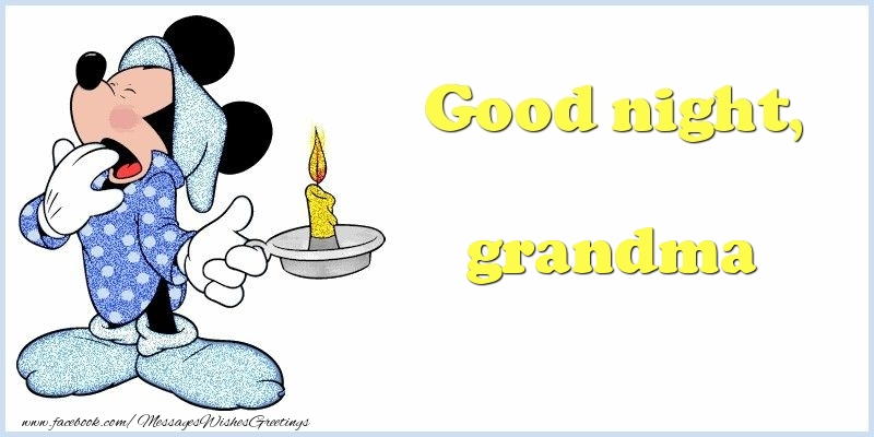 Greetings Cards for Good night for Grandmother - Good night, grandma