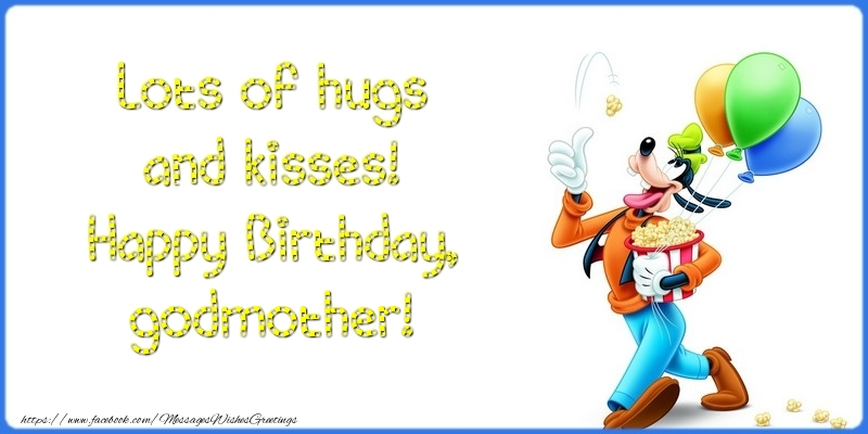 Greetings Cards For Kids For Godmother Lots Of Hugs And Kisses