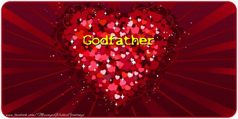 Greetings Cards for Love for Godfather - Godfather