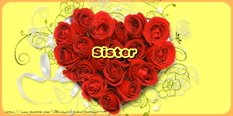 Greetings Cards for Love for Sister - Sister