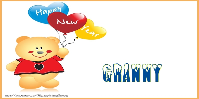Greetings Cards for New Year for Grandmother - Happy New Year granny ...