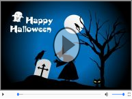 Animated Greeting card: Happy Halloween!